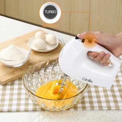 GBlife LB3001A Electric Hand Mixer with 2 Beater Whisks 2 Dough Hooks