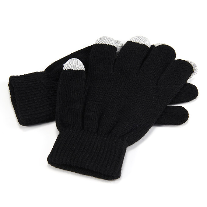 Unisex Magic Capacity Touch Screen Gloves Texting Stretch Winter Knit for Smartphone Iphone Tablet - Black