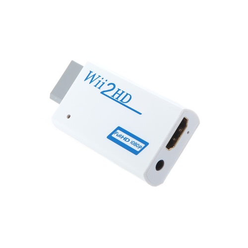 Wii to HD 720P / 1080P HD Output Upscaling Converter Adapter with 3.5mm Audio