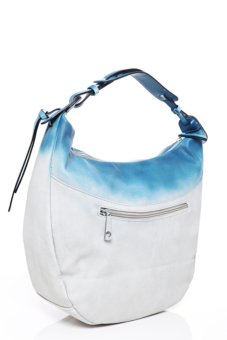 Contrasted Hobo Bag