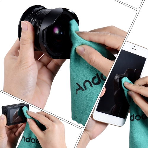 Andoer Cleaning Cloth Screen Glass Lens Cleaner for Canon Nikon DSLR Camera Camcoder iPhone iPad Tablet Computer