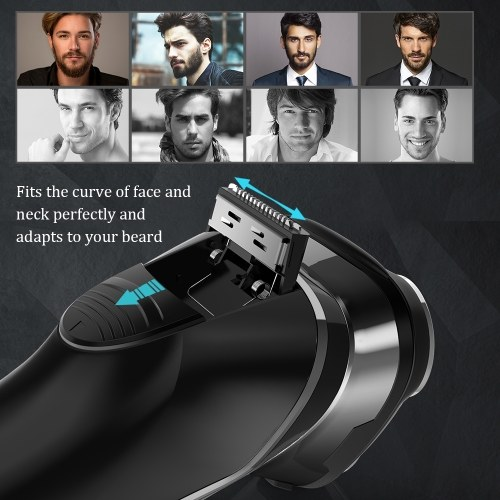 Flyco FS377EU Electric Shaver Beard Trimmers with 3 Floating Heads