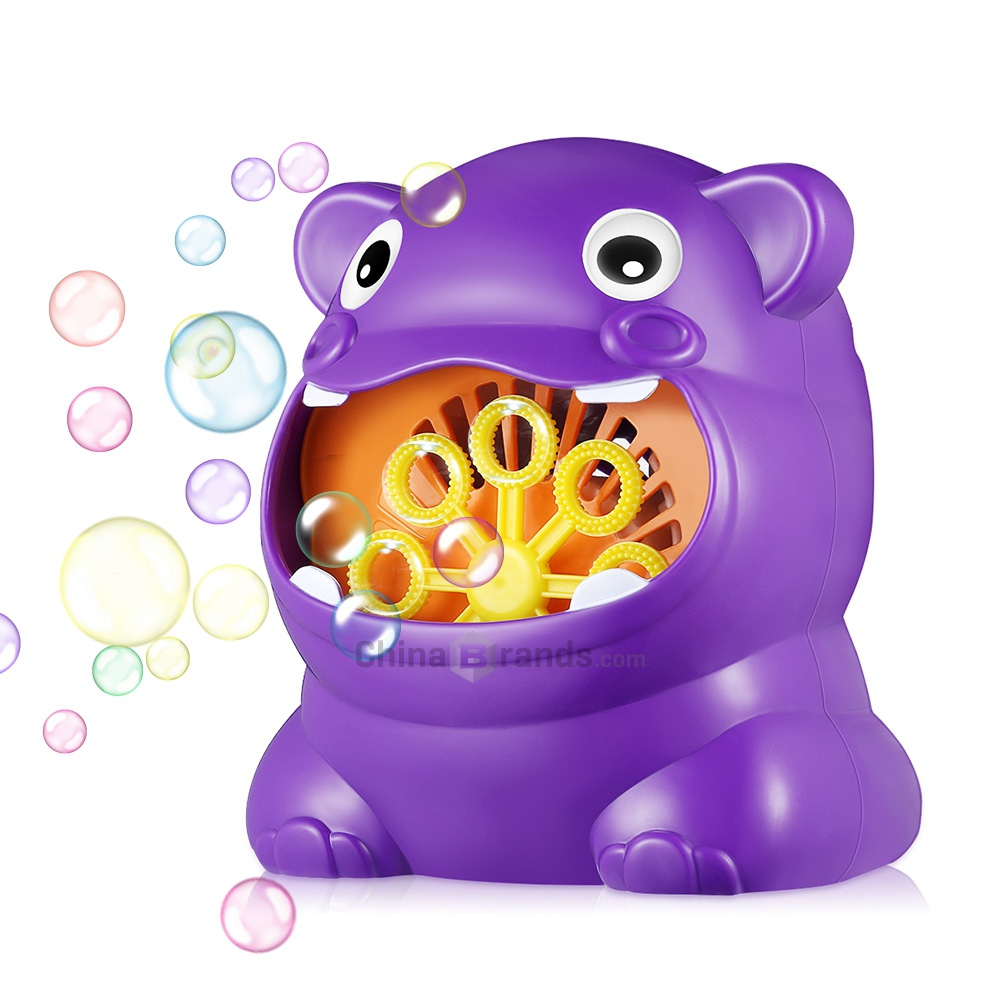 011 Hippo-shape Full Automatic Bubble Machine Children Toy for Boys and Girls