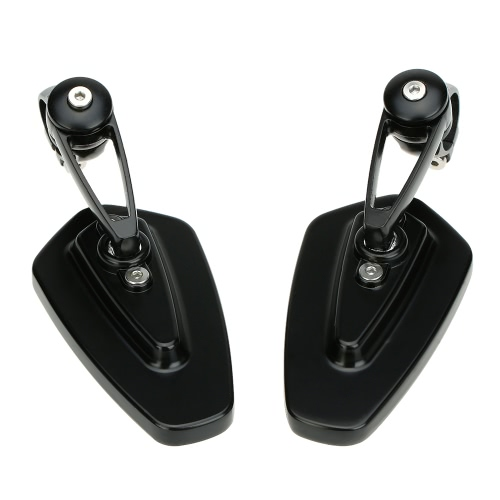 Pair of Motorcycle Universal 7/8 Handle Bar End Rearview Mirror CNC Aluminum 360° Rotation Bracket Side View Mirrors