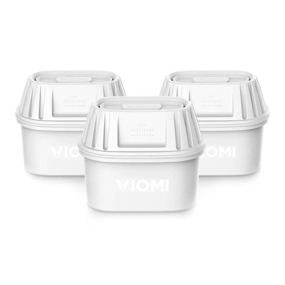 3PCS Xiaomi Viomi Filter Element Carbon Exchange Resin Filters for Xiaomi Viomi Water Filter Kettle / Brita Water Filter Kettle International Version - White