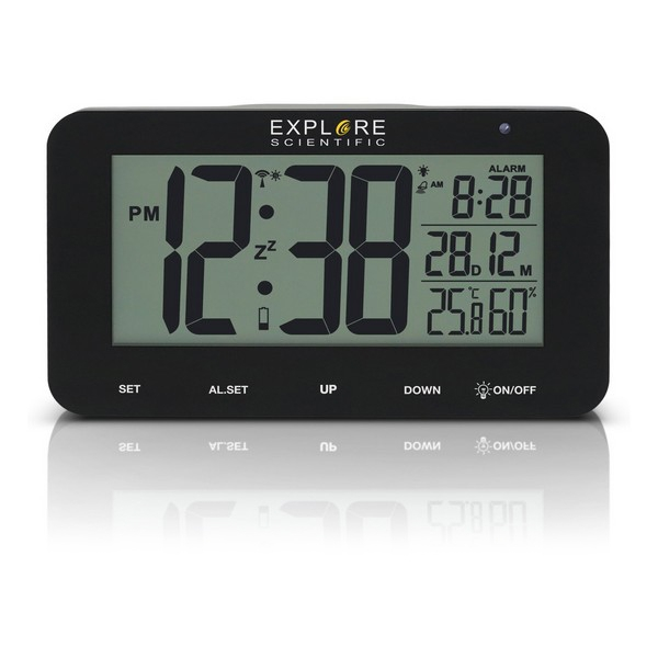 Alarm Clock Explore Scientific RDC-1004 LCD Black