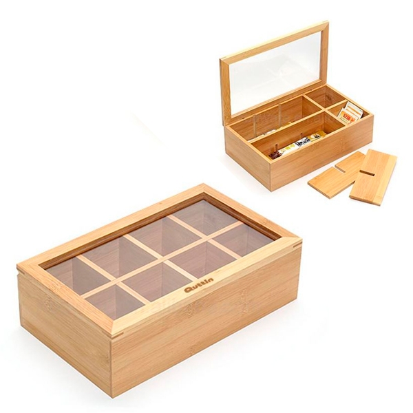 Box for Infusions Quttin Bamboo (30 X 16 x 9 cm)