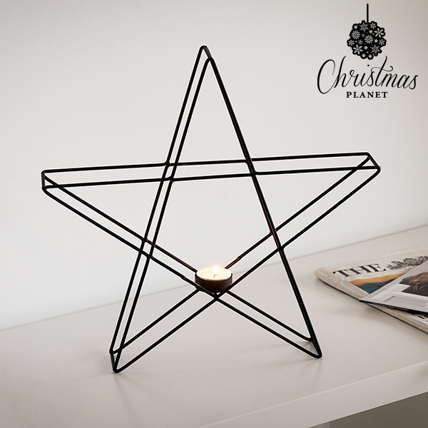 Christmas Planet Star Metallic Candle-holder