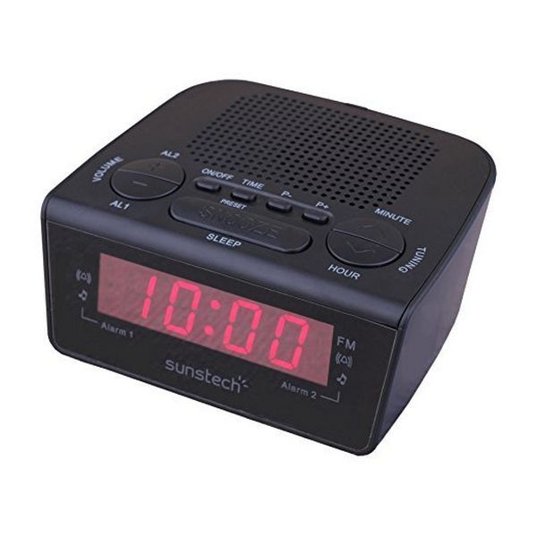Clock-Radio Sunstech FRD18BK Black