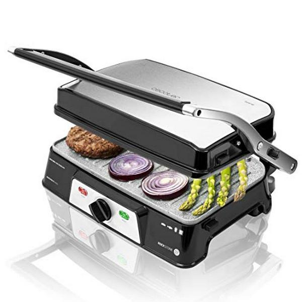 Contact Grill Cecotec Rockn grill 1500 Take&Clean 1500W Black Silver