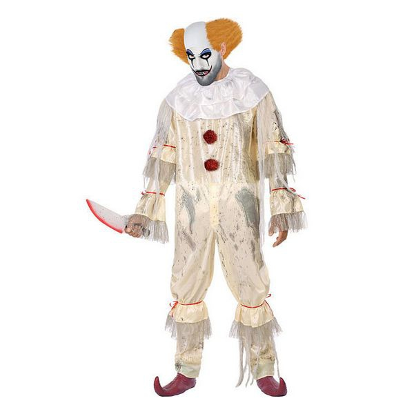Costume for Adults Bloody clown White (1 Pcs)