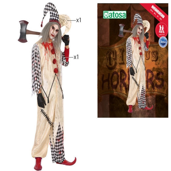 Costume for Adults Bloody harlequin