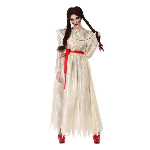 Costume for Adults Possessed girl White (1 Pcs)