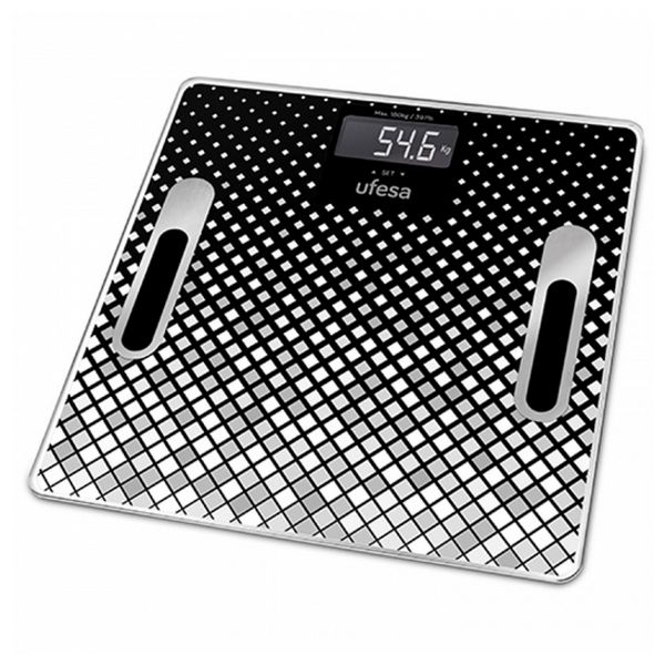 Digital Bathroom Scales UFESA BE1855 Negro (30 X 30 cm)