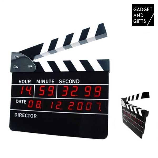 Digital Clapperboard Alarm Clock