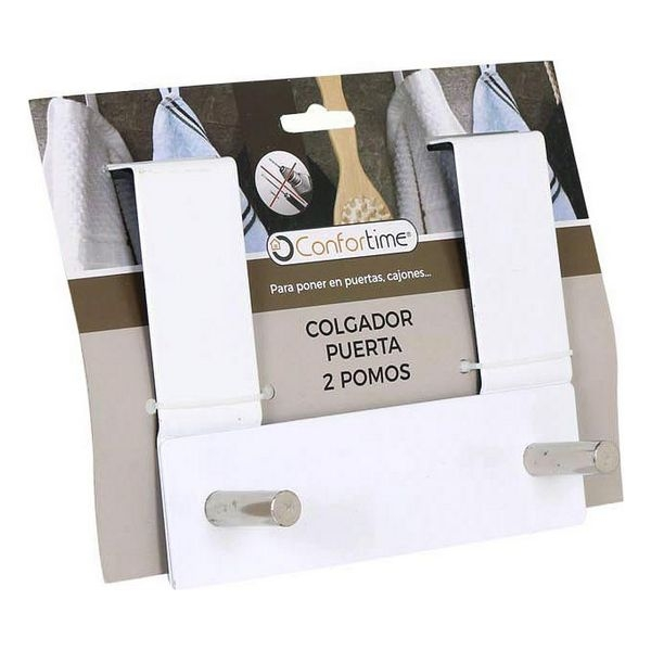 Door Coat Rack Confortime (2 Hangers) (17 X 13,4 x 8,5 cm)