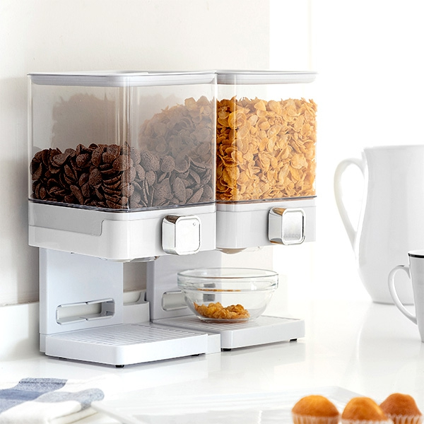 Double Cereal Dispenser with Stand