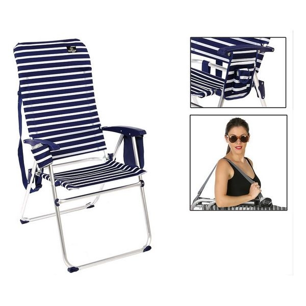 Folding Chair Aluminium Navy blue 114675