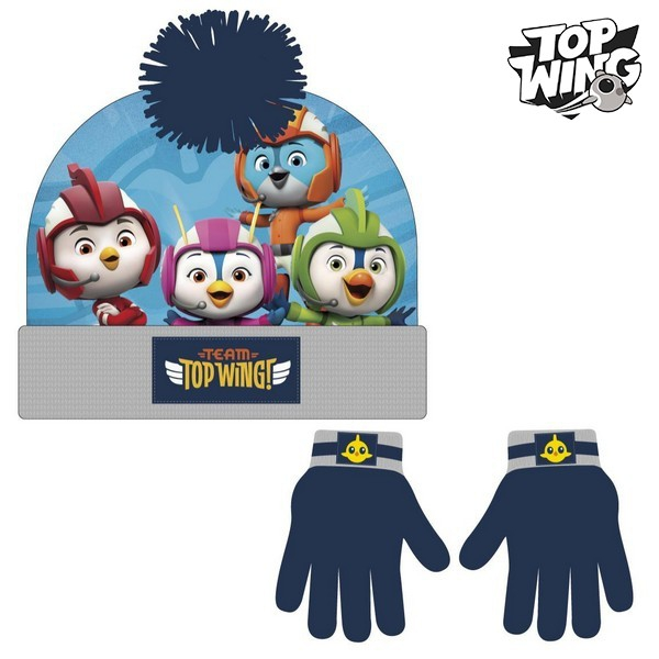 Hat & Gloves Top Wing 74322 Navy blue (2 Pcs)