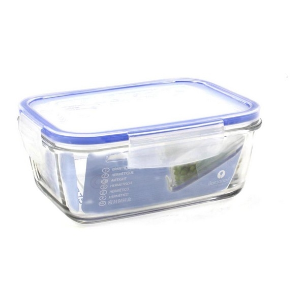 Hermetic Lunch Box Borgonovo Transparent Rectangular