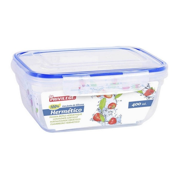 Hermetic Lunch Box Privilege Rectangular Transparent