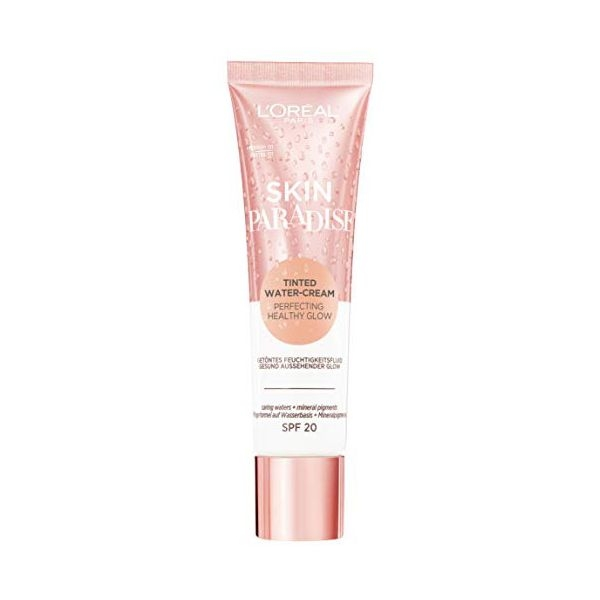 Hydrating Cream with Colour Skin Paradise LOreal Make Up SPF20 01 Medium (30 ml)