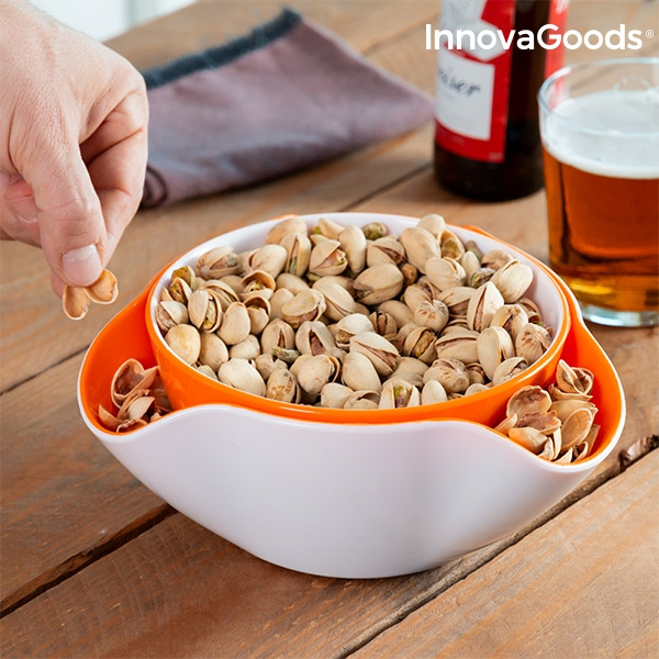 InnovaGoods 2-in-1 Snack Bowl (2 Pieces)