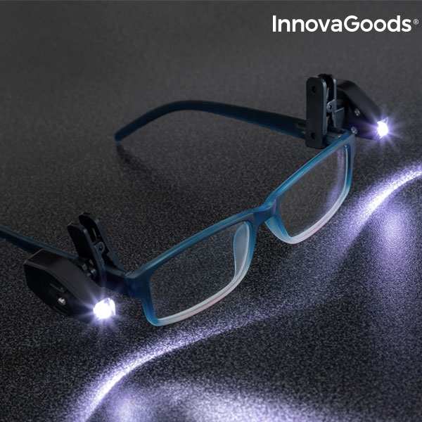 InnovaGoods 360º LED Glasses Clip (Pack of 2)