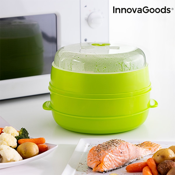 InnovaGoods Fresh Microwave Double Steamer