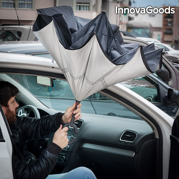InnovaGoods Inverse Closing Umbrella