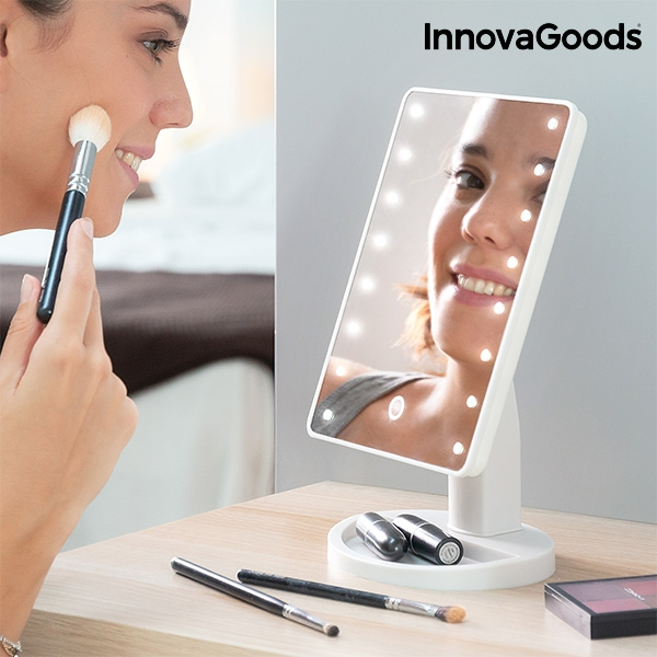 InnovaGoods LED Tabletop Mirror