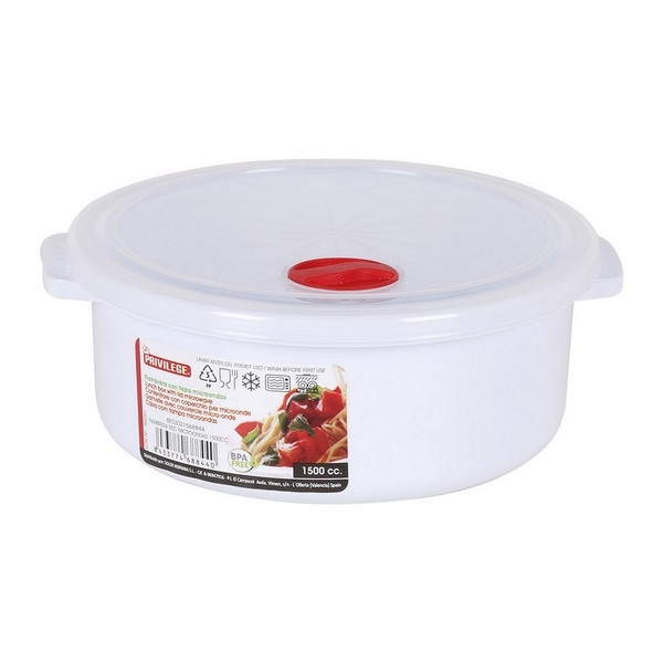 Lunch Box with Lid for Microwaves Privilege White