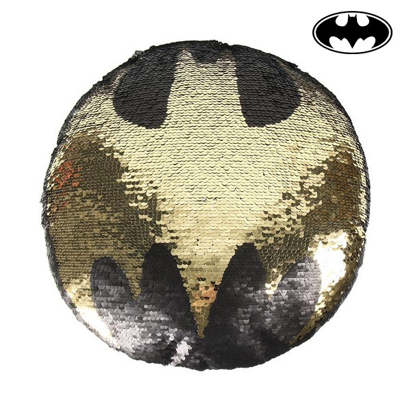 Magic Sequinned Mermaid Cushion Batman 74489 Black (30 X 30 cm)