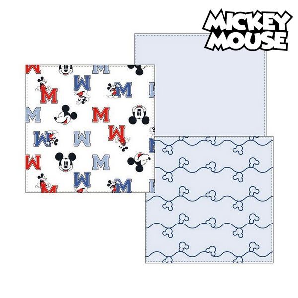 Muslin facecloth Mickey Mouse 75380 Blue (Pack of 3)