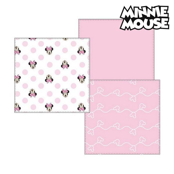 Muslin facecloth Minnie Mouse 75402 Pink (Pack of 3)