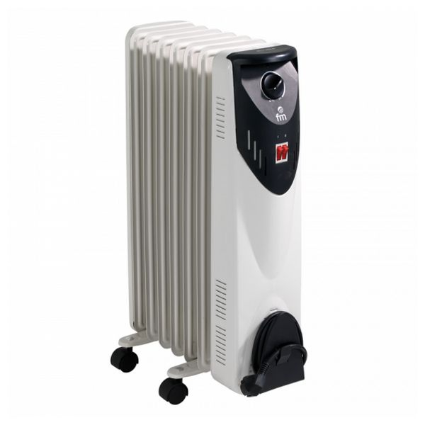 Oil-filled Radiator (7 chamber) Grupo FM RW-15 1500W White