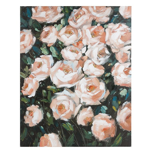 Oil Painting Roses Pine (80 X 4 x 100 cm)