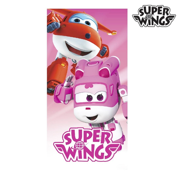 Pink Super Wings Beach Towel