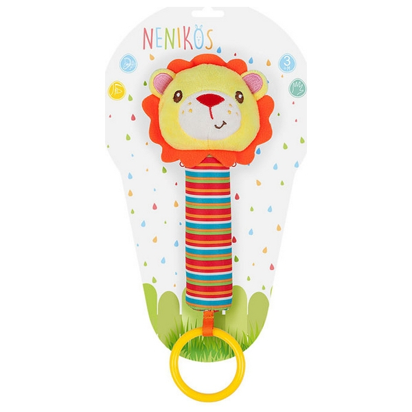 Rattle Cuddly Toy Nenikos Lion +3m 112191