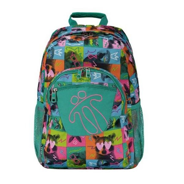 School Bag Animals Totto Acuareles Green (44 X 35 x 14 cm)