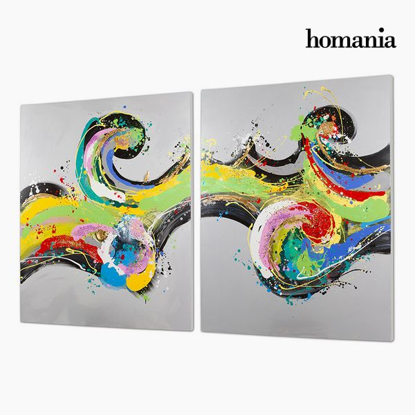 Set of 2 Oil Paintings (120 x 3 x 150 cm) by Homania