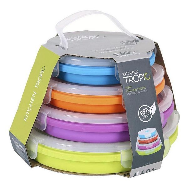 Set of 4 lunch boxes Kitchen Tropic Circular (4 Uds)