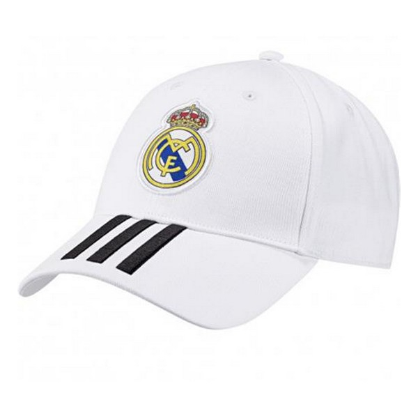 Sports Cap Adidas Real Madrid 3 Stripes White