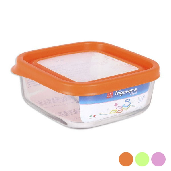 Square Lunch Box with Lid Bormioli (15 x 15 x 6,4 cm)