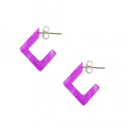 Amethyst UV Ear Hoop