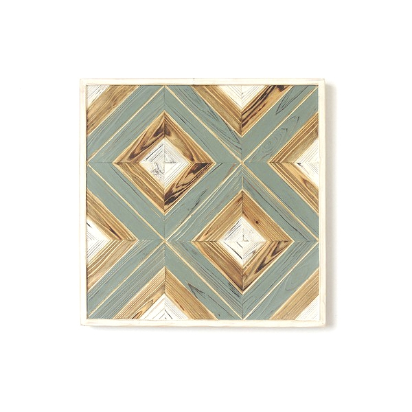 Wall Decoration Geometric Lines (61 x 61 x 3 cm)