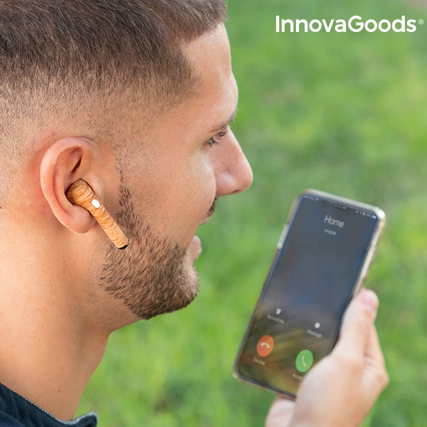 Wireless Headphones Smartpods W Wood InnovaGoods