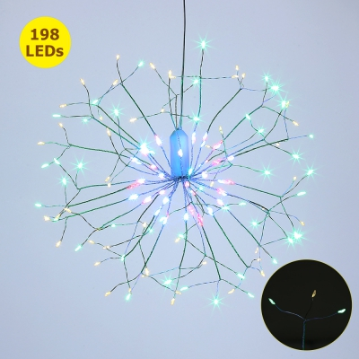 LH - BOM - YHD198M 198 LEDs Hanging Starburst Light with Remote Control