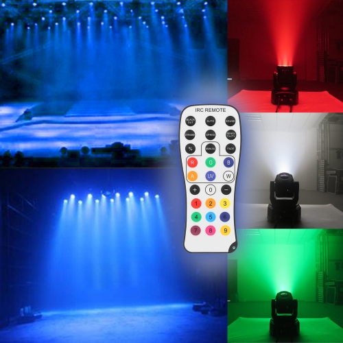 50W 4 LEDs RGBW Wash Rotating Moving Head Stage Effect Light