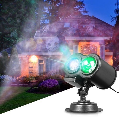 2 In 1 Water Wave Lamp Kaleidoscope Projector with Remote Control
